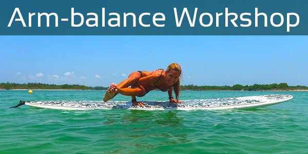 SUP Yoga Arm Balance - SUP Yoga retreat