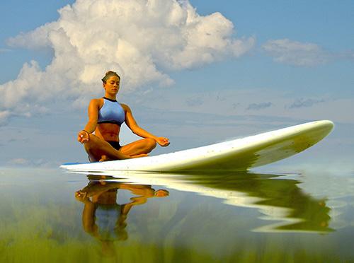 SUP Yoga girl